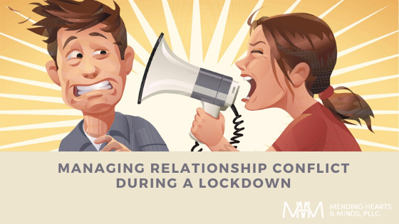 Couple with relationship conflict